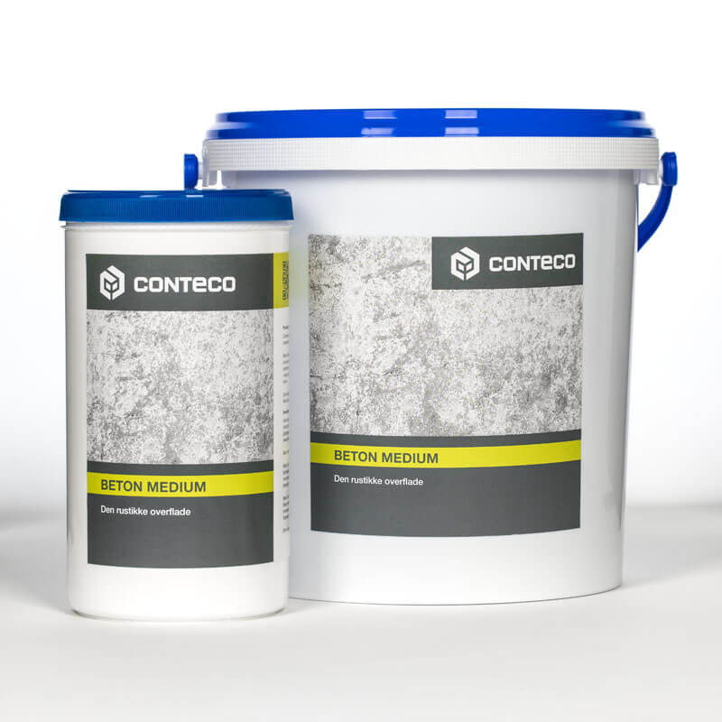 Conteco beton medium bøtter til rustik overflade