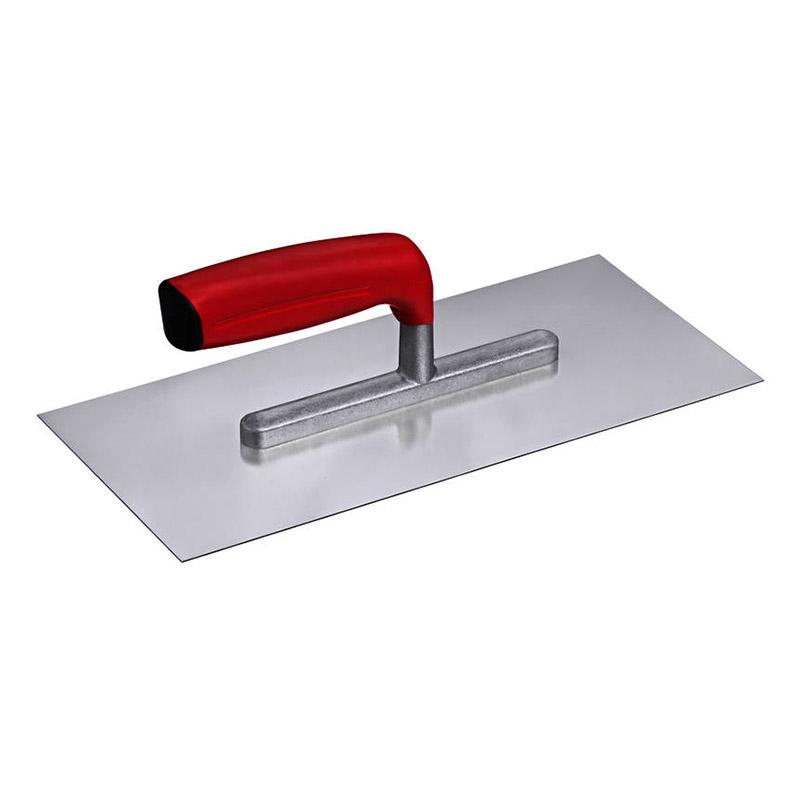 Glittebræt i stål fra conteco med rødt greb
