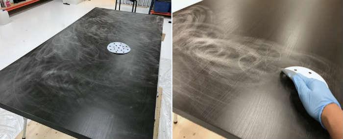 Overfladebehandling af betonkøkkenbordplade