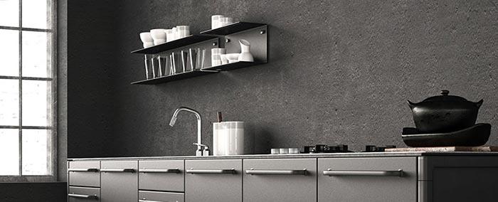 Køkken lavet med Conteco beton
