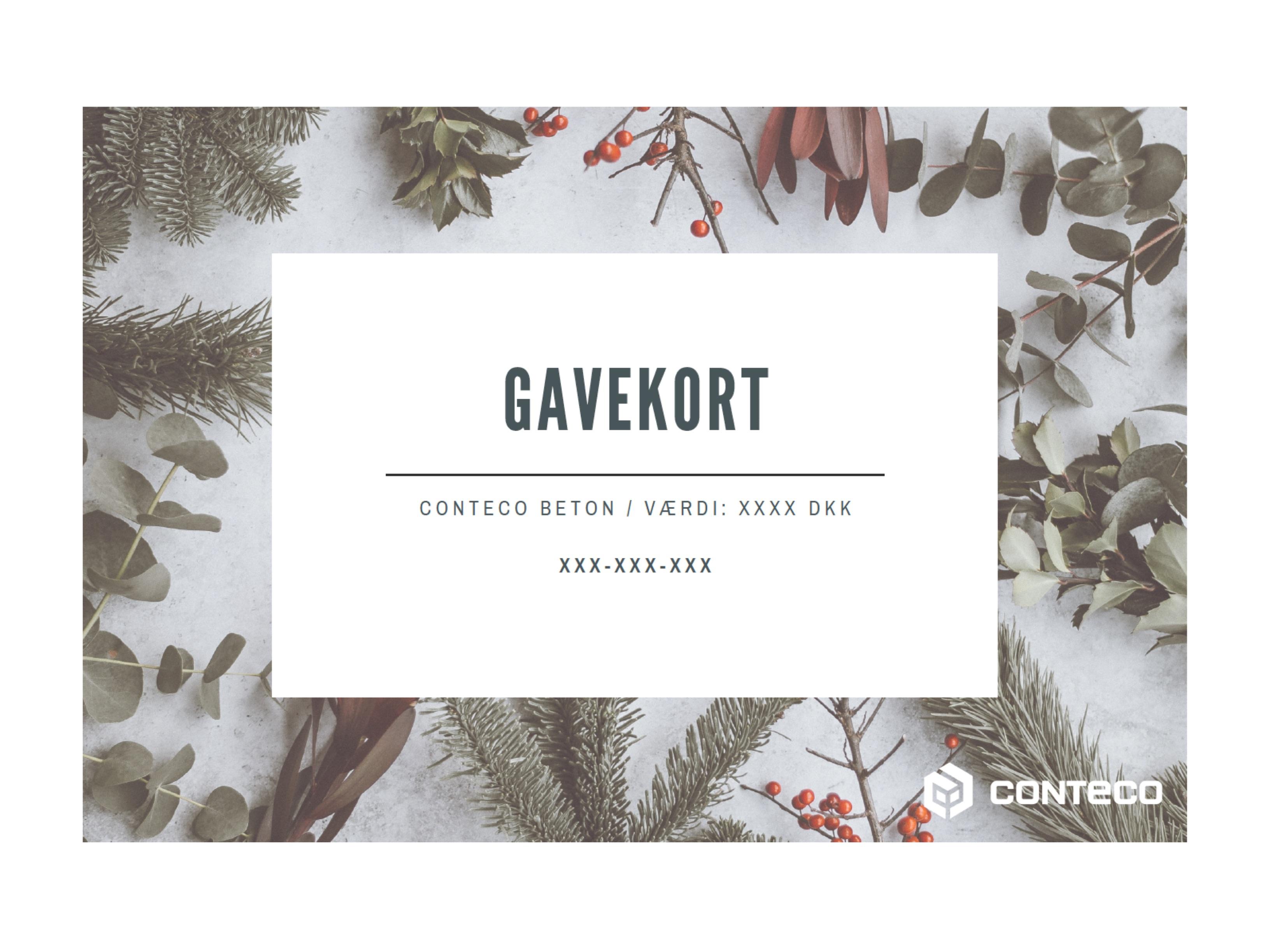 Gavekort Conteco