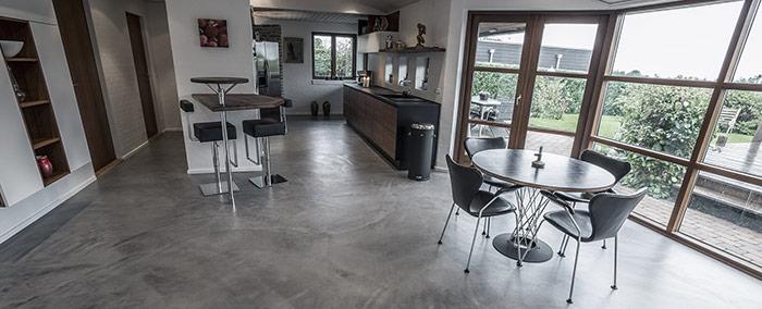 Køkkengulv beton Conteco diy microcement